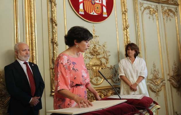 La directora de Relaciones con las Confesiones, Ana Gallego, durante la toma de posesión de su cargo. / Prensa Justicia,