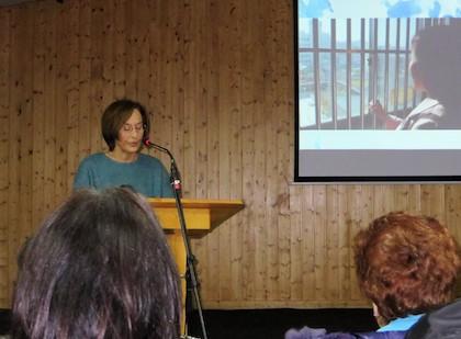 Brigitte Luz, miembro de la iglesia en la calle Volta. / Jacqueline Alencar