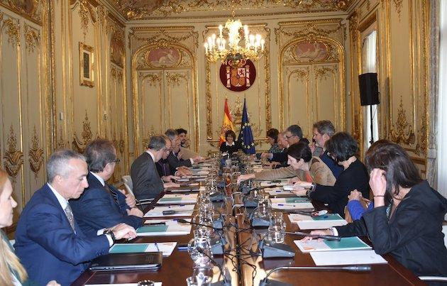 La ministra Dolores Delgado, presidiendo la reunión del Patronato de Pluralismo y Convivencia. / MinJusticia,