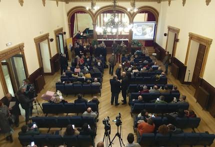 El salón del Liceo, pocos minutos antes de comenzar el acto. / Abraham Solla
