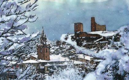 Pueblo nevado, de Miguel Elías.