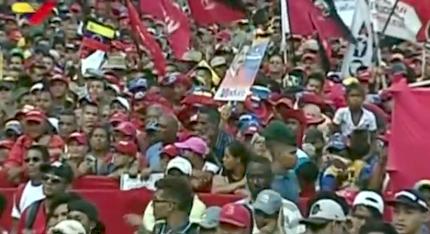 Manifestación en Caracas a favor de Maduro. / RT