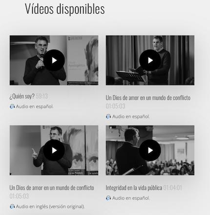 Vídeos en la web de Fórum Apologética.