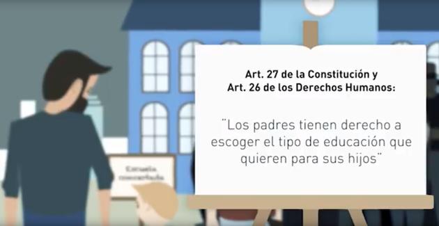 Un fotograma del vídeo de la campaña #yoelijo, estrenado este martes.,