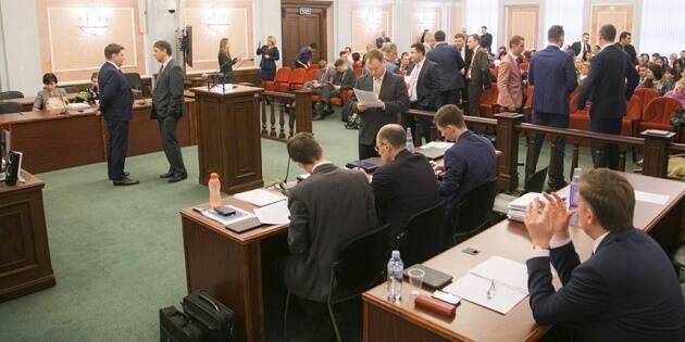 Imagen del proceso del Tribunal Supremo ruso que acabó con la prohibición de los Testigos de Jehová en 2017. / MT