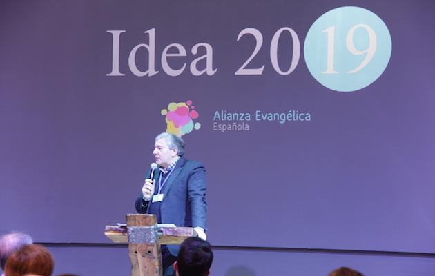 Marcos Zapata, en su ponencia en Murcia. / J. Soriano,