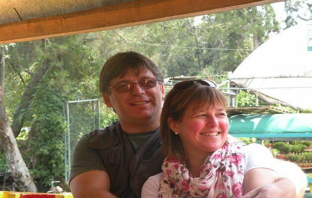 Gerardo Oberman con Grety Ouwerkerk, su esposa.,