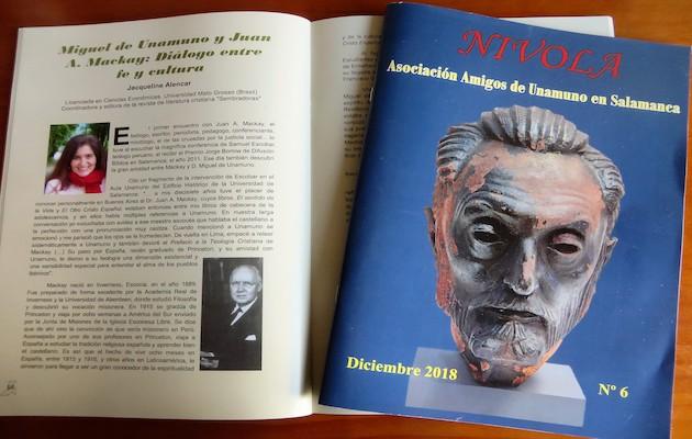 Artículo publicado en la revista Nivola. / Jacqueline Alencar,