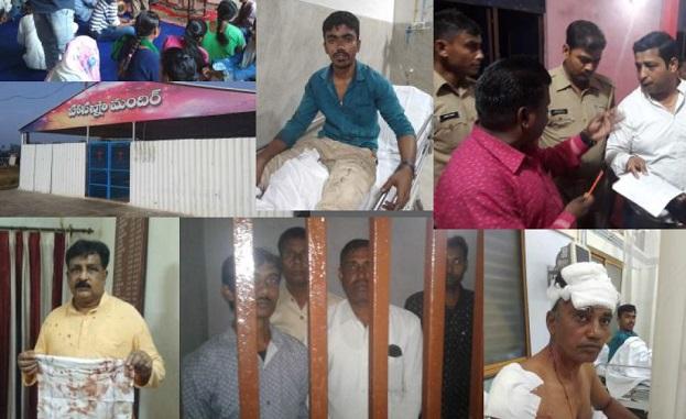 Imágenes de algunos de los ataques registrados en 2018 por la Comunidad Evangélica de India. / EFI,