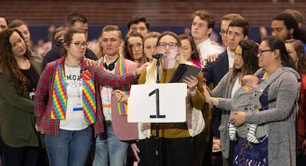 La delegada Shayla Jordan defendía la aprobación del matrimonio homosexual. / Mike DuBose, UNMS