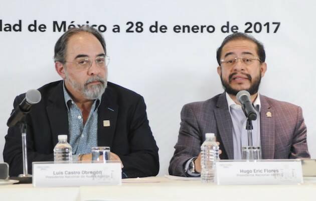 Dirigentes de Nueva Alianza y Encuentro Social.,