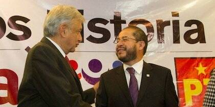 López Obrador y Hugo Éric Flores.