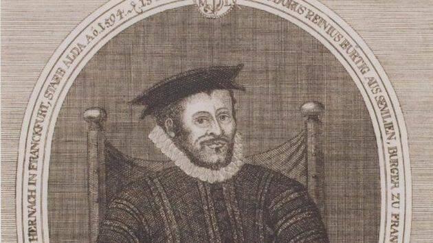 Retrato de Casiodoro de Reina en la Deustche National Bibliothek. / Biblioteca Nacional Alemana,