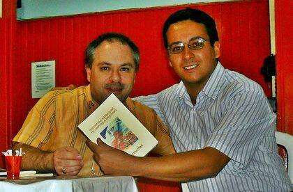 Sammis Reachers con Rui Duarte, poeta evangélico portugués.