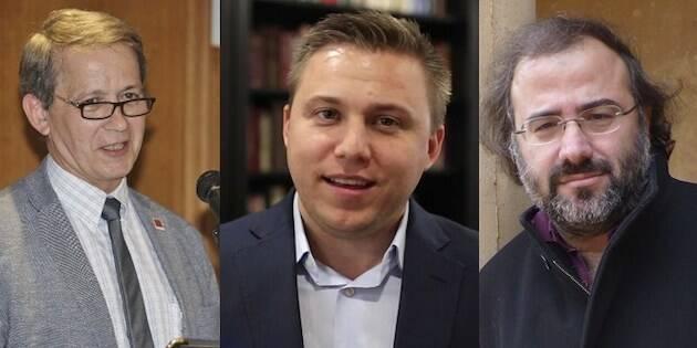 Luis Fajardo, Andy Wickham y Alfredo Pérez Alencart, directores de las entidades que convocan en certamen. / Tiberíades,