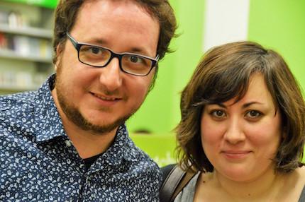 Jándula y Alarcón, durante la presentación de la plataforma cultural Suburbios, que edita el libro. / Jordi Torrents