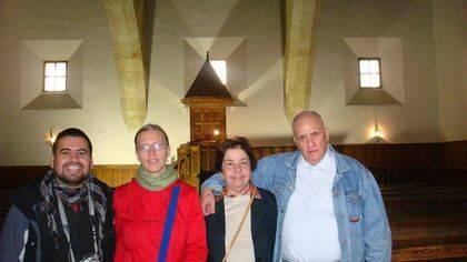 Marcelo Gatica, Helina Aulis, Elza y Carlos Nejar (foto de Jacqueline Alencar)