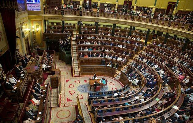 El salón de plenos del Congreso de los Diputados durante una sesión. / Wikimedia Commons,