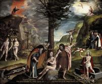 Holbein el joven Alegoría del Viejo y el Nuevo Testamento (1533-35).