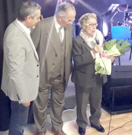 Félix Benlliure y su querida María Teresa, junto al Pastor Víctor Rubí.