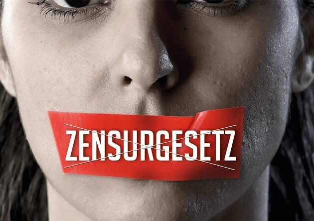 Poster de la campaña a favor de un referéndum sobre el cambio del Código Penal en Suiza.,