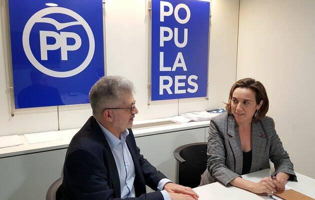 Cuca Gamarra, durante la entrevista./ PD,Cuca Gamarra
