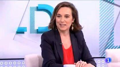 Cuca Gamarra, en una entrevista en TVE.