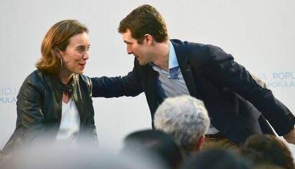 Con Pablo Casado, Presidente del PP.