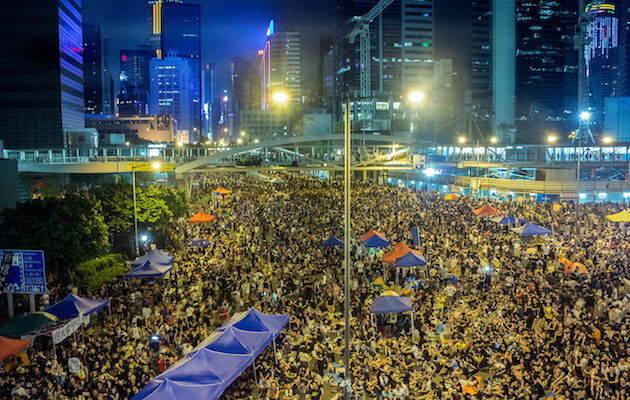 Imagen de una de las concentraciones de Occupy Central en 2014. / Wikimedia Commons,