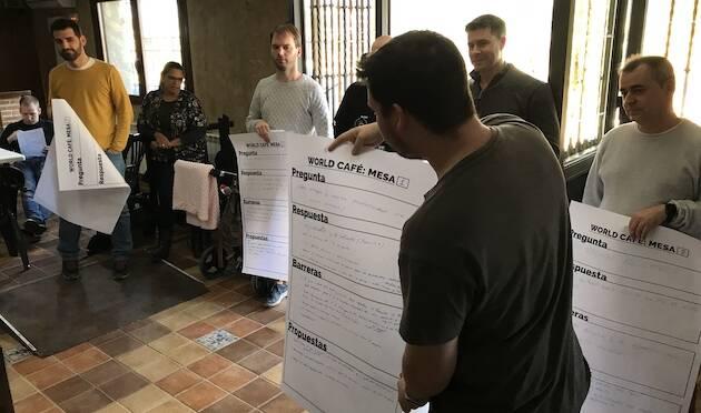 Word Café, una de las actividades participativas realizadas en EnRed2019. / Carlos Fumero,