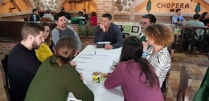 Mucha interactividad en un evento diseñado para conocerse y trabajar juntos. / Carlos Fumero