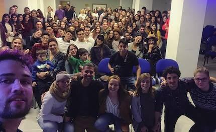 El grupo Yadah, tras una tarde de alabanza en Gijón. / Fb Yadah