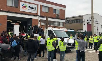 La marcha comenzó en la Iglesia Betel. / Betel Zaragoza