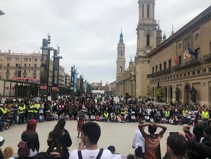 Se presentó el mensaje del evangelio en la Plaza del Pilar. / Betel Zaragoza