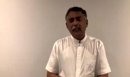 El pastor principal de la iglesia Sión, en un mensaje tras los ataques. / FB Zion Batticaloa
