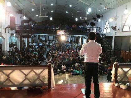 Un servicio de la iglesia Sión. / FB Zion Batticaloa