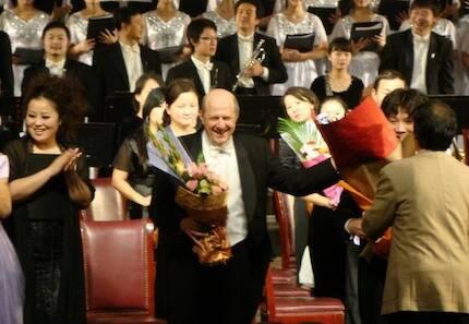 En China, tras el Concierto Beethoven. / Sam Rotman web