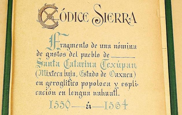 Fragmento del Códice Sierra,