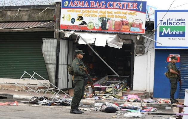 Un negocio propiedad de musulmanas atacado en Sri Lanka. / AFP L.Wanniarachi vía NCEASL,
