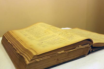 La primera versión completa de la Biblia en castellano, la Biblia del Oso, cumple este 2019 450 años. / Marina Acuña
