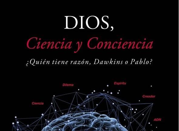 Fragmento de la portada De Dios, Ciencia y Conciencia, de Antonio Cruz. ,