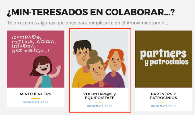 Las inscripciones para el voluntariado, ya disponibles en la web min19.org.,