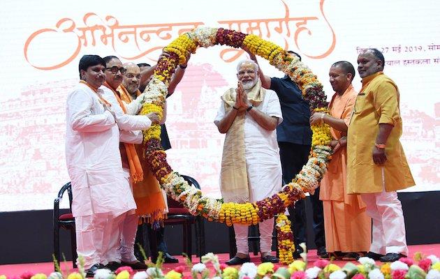 El reelecto primer ministro de India, Narendra Modi, celebrando su victoria en las elecciones. / Twitter @narendramodi,