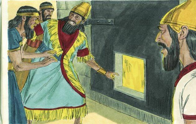 El Emperador ha determinado que el que no adore la estatua va a ser echado en un horno de fuego. / Free Bible Images (CC),