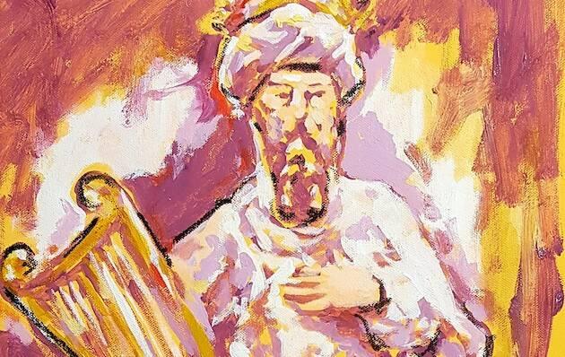 Cuadro del rey David, de Miguel Elías. /Tiberíades,