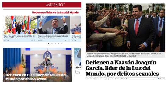 Los medios mexicanos no identifican a Luz del Mundo como evangélica.