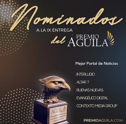 Nominados en la categoría a mejor portal de noticias. / Premio Águila