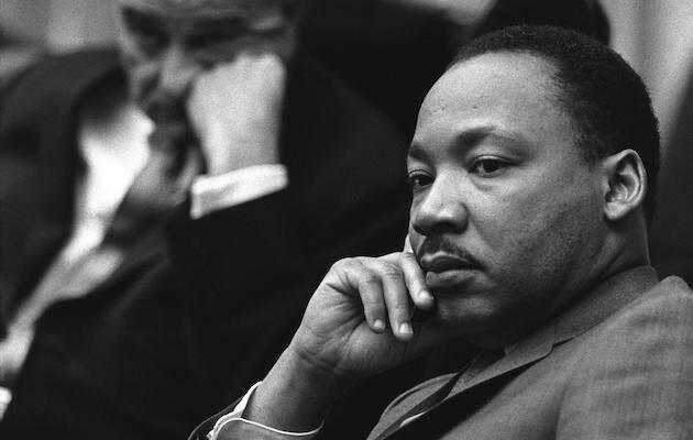 Luther King, en la Casa Blanca visitando al presidente Johnson, en 1966. / Wikimedia, Dominio público,