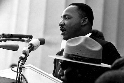 King lideró el movimiento por los derechos civiles. En la imagen, durante su famoso discurso en Washington, en 1963. / Wikimedia, dominio público