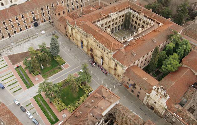 Vista aérea del rectorado de la Universidad de Alcalá de Henares. / Wikimedia Commons,